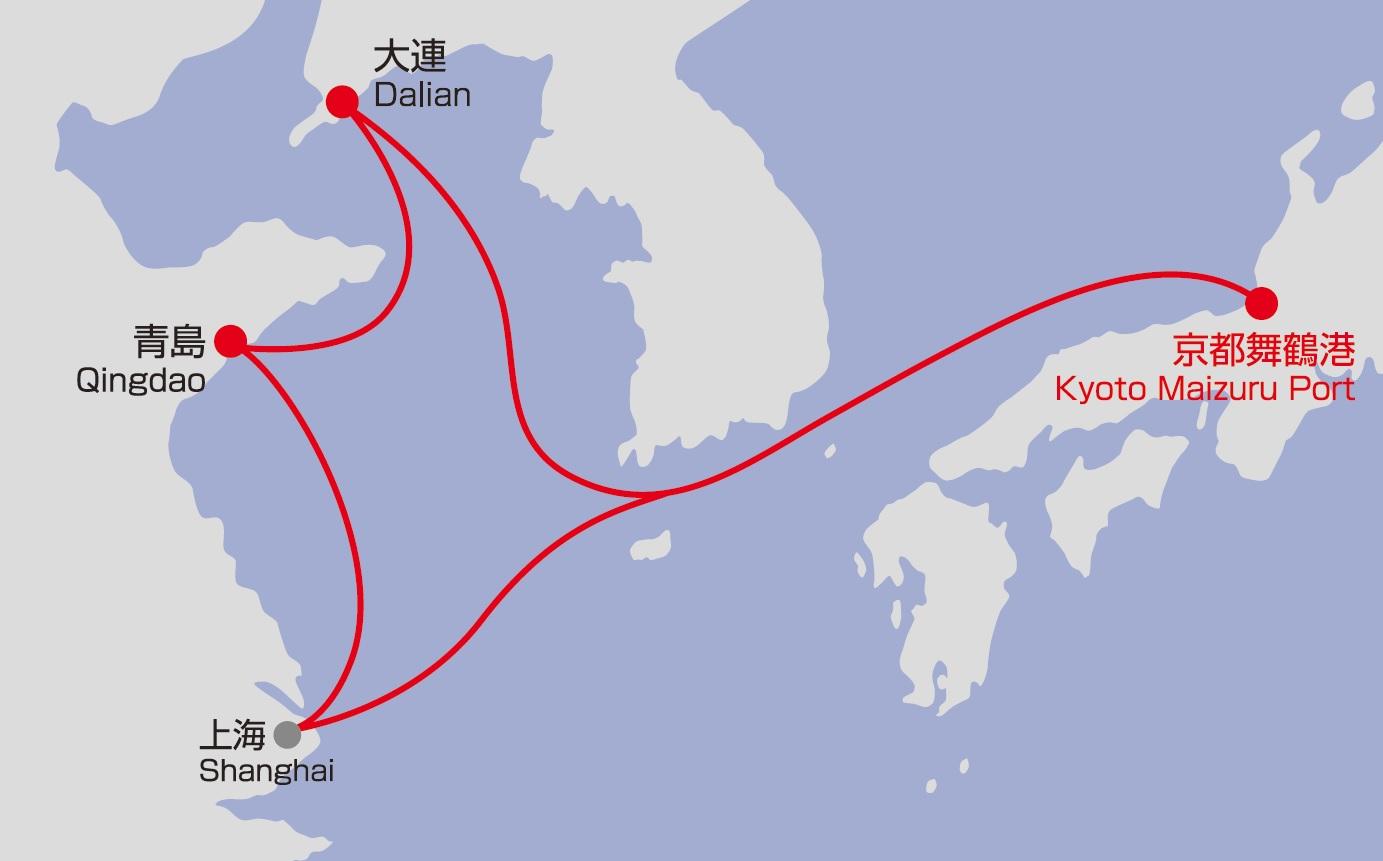 中国航路 航路図