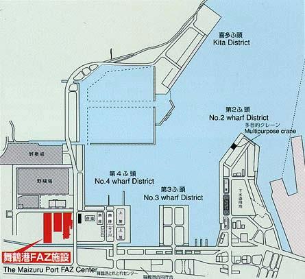 舞鶴港FAZ施設地図
